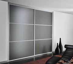 Frosted Closet Sliding Doors Sliding Door Wardrobe With Frosted Glass And Silver Metal Frame