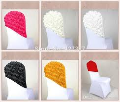Cheap Chair Sashes New Arrival Elegant Rose Flower Chair Cover Cap Chair Sash Sashes