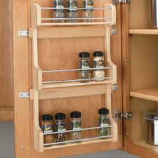 Wooden Spice Cabinet With Doors Spice Rack Shelves Doors And Spice Bottles