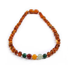 baby bead necklace images Amber teething necklace for baby gemstones malachite jpg