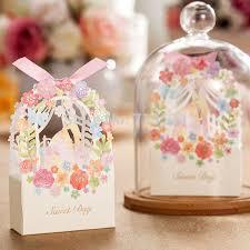 candy favor boxes wholesale 25p and groom wedding favor box flower gift box wedding