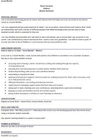 social worker cv example u2013 cover letters and cv examples