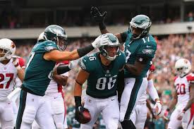 philadelphia eagles players celebrate dominant win arizona