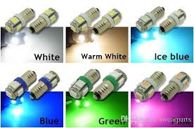 e10 5 smd 5050 led white warm iceblue blue green pink lights mes