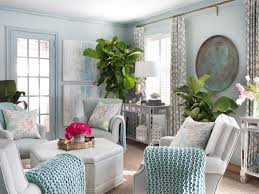 beautiful small space shabby chic living room painted in light