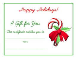 free holiday gift certificates templates to print gift