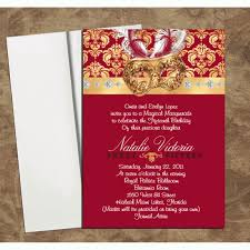 burgundy gold mask invitations for quinceanera or sweet 16