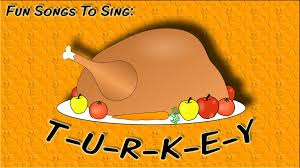 t u r k e y tune of b i n g o thanksgiving song for