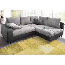 canapé d angle fixe canapé d angle convertible en imitation cuir de luxe tissu chiné