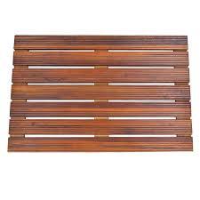 Teak Bath Mat Solid Teak Wood Shower Spa Bath Mat For Bathroom Or Outdoor Shower