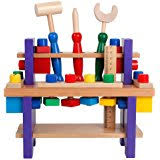 Boys Wooden Tool Bench Amazon Com Everearth Toddler Workbench With Tools Wooden