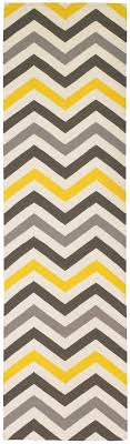 Chevron Runner Rug Zig Zag Chevron Stripes Citrine Runner Rug 2 5 X 9 Casa