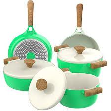 Non Stick Cookware For Induction Cooktops Amazon Com Vremi 8 Piece Ceramic Nonstick Cookware Set