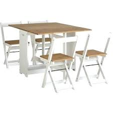 Folding Table With Chairs Stored Inside Folding Table With Chair August Grove Folding Dining Set With 4