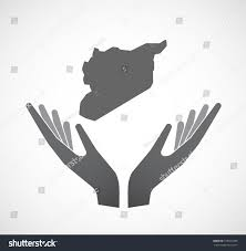 Show Me A Map Of Syria by Illustration Isolated Hands Offering Sign Map Stock Vector