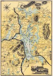Old Boston Map by Boston U0026 Maine Railroad 1900 Map Of Lake Winnipesaukee