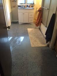 myrrhmalade bathroom makeover pt2 bathroom floor stenciled