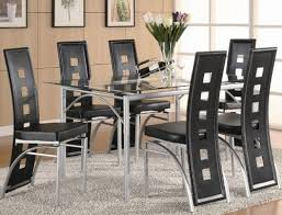 Black Dining Room Set Black And Silver Dining Room Set Inspiring Well Pc Dining Set With