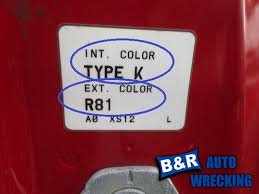 trim color code guide for cars u0026 trucks b u0026r autowrecking