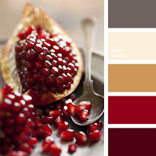 burgundy red color combination for redecoration color of