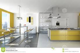 cuisine jaune et blanche cuisine moderne blanche et jaune photo stock image du décoration