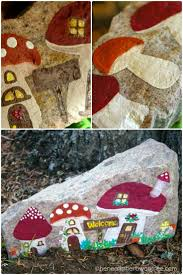186 best gnome houses painted rocks images on pinterest painted