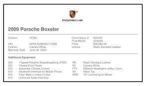 lexus build sheet by vin fs 987 2 boxster pdk white black 48k miles thorough service