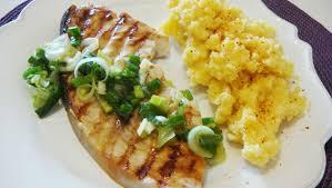 cuisiner espadon espadon grillé au citron et sa polenta c est tres facile a faire