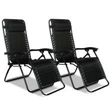 Indoor Zero Gravity Chair Zero Gravity Recliner Black 2 Pack Caravan Canopy 80009000052