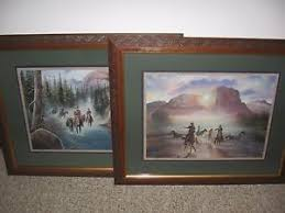 home interior picture cowboys riding horses in river j morgan crain