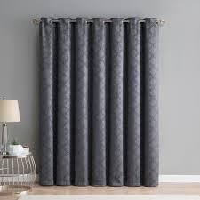 hlc me redmont lattice thermal blackout grommet patio door curtain