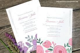 Blank Wedding Invitation Kits New Romantic Floral Designs For Our Seed Paper Printable Wedding