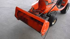 Kubota Model T1760 Lawn Mower With Snow Thrower Model T2738 Youtube