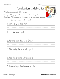 free punctuation worksheets have fun teaching