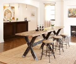 wood counter height table reclaimed boat wood counter height table rustic home bar