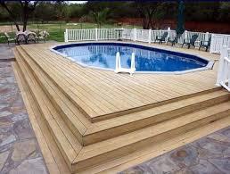 wonderful above floor pool deck designs architecture designs small