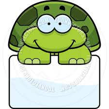 cartoon little turtle sign by cory thoman toon vectors eps 5557