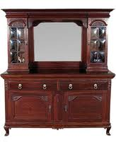 incredible deal on antique english solid walnut victorian buffet
