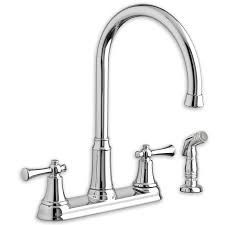 Kitchen Sink Faucet Installation by Portsmouth 2 Handle High Arc Kitchen Faucet With Side Spray