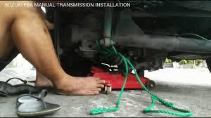 suzuki f6a manual transmission installation youtube