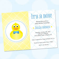 Invitation Cards For Baby Shower Top 10 Rubber Ducky Baby Shower Invitations For You Thewhipper Com