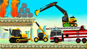 learning vehicles trucks and diggers android gameplay for kids
