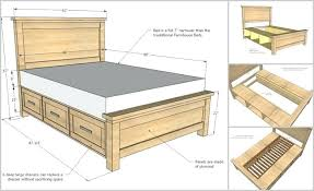 Bed Frame Plans With Drawers Bed Storage Diy Ianwalksamerica