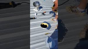 attic ventilation turbine how to install turbine in metal roof youtube
