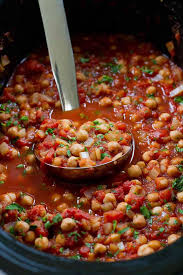 slow cooker italian chickpeas vegan crockpot recipe