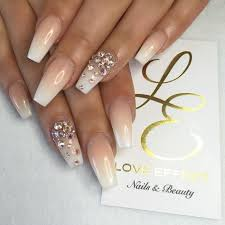 and white ombre nailz with bling nails white
