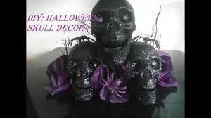 diy halloween skull home decor dollar tree items youtube