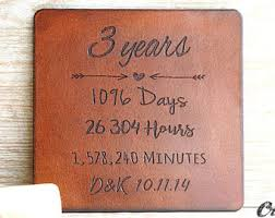 leather anniversary gifts for 3 year anniversary etsy