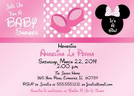 free editable baby minnie mouse baby shower invitations saflly