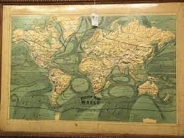 Self Adhesive Old World Map Collecting Antique And Vintage Globes
